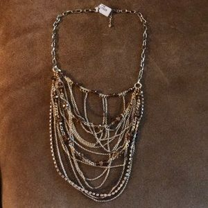 Therapy store multi chain swoop necklace